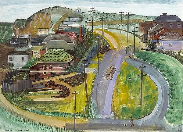 John Charles Haley (American, 1905-1991) Richmond Hills, 1931 sight: 13 3/4 x 19in