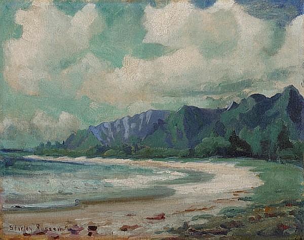 Shirley Marie Russell (American, 1886-1985) Leeward side, Oahu 11 x 14in