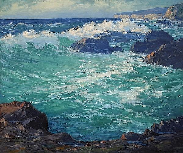 William Henry Price (American, 1864-1940) Restless sea 30 x 36in