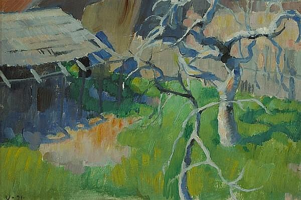 Edouard Vysekal (American, 1890-1939) The fig tree, 1921 12 x 17 3/4in