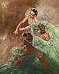 Pal Fried (Hungarian/American, 1893-1976) Three ballerinas 30 x 24in, Fried Pal, Click for value