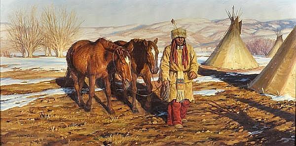 Robert Duncan (American, born 1952) Spring thaw, 1981 15 x 30in