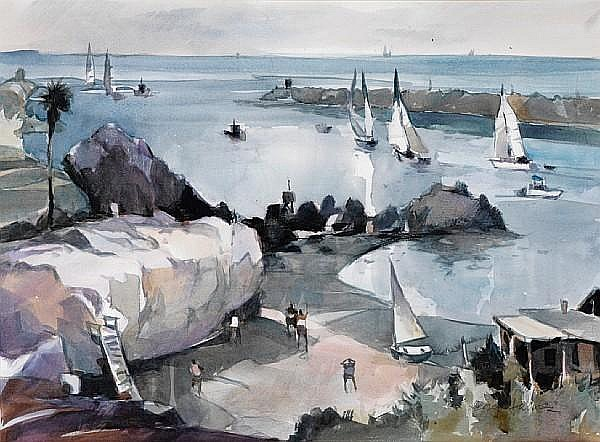 George James (American, born 1932) Corona Del Mar sight: 20 x 27 1/2in