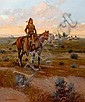 William Steve Seltzer (American, 1955) Indian at sunset 24 x 20in, Steve Seltzer, Click for value