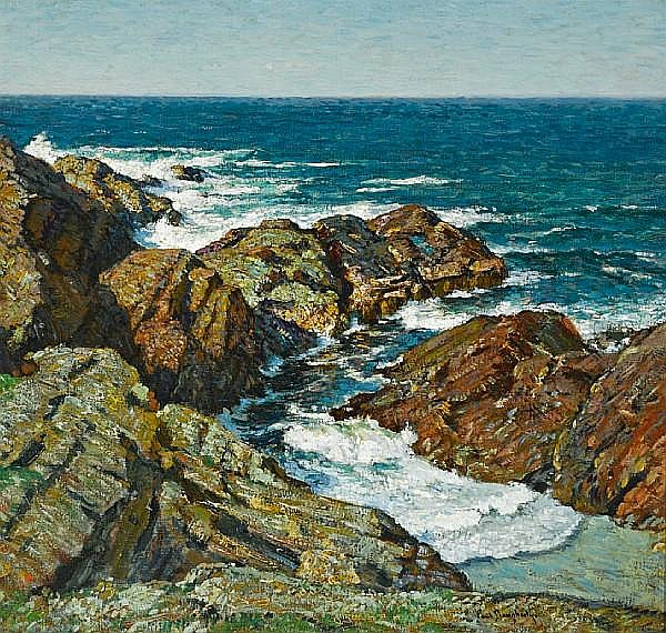 Paul Dougherty (American, 1877-1947) The twisted ledge 34 x 36in