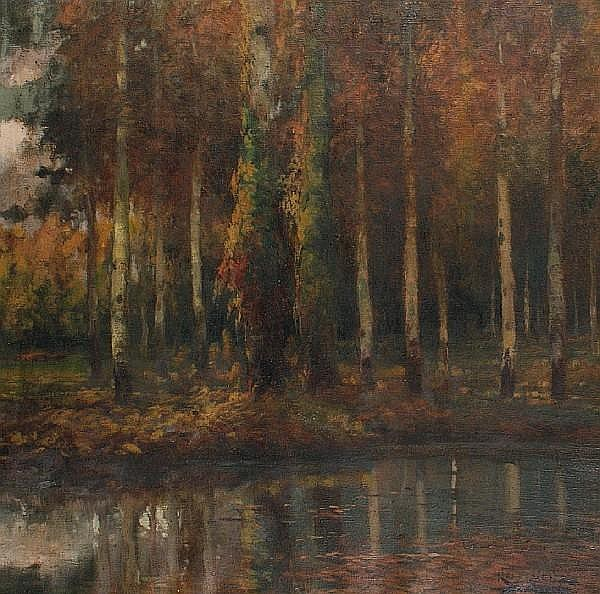 Antonio Ros y Guell (Spanish, 1873-1954) Study of trees