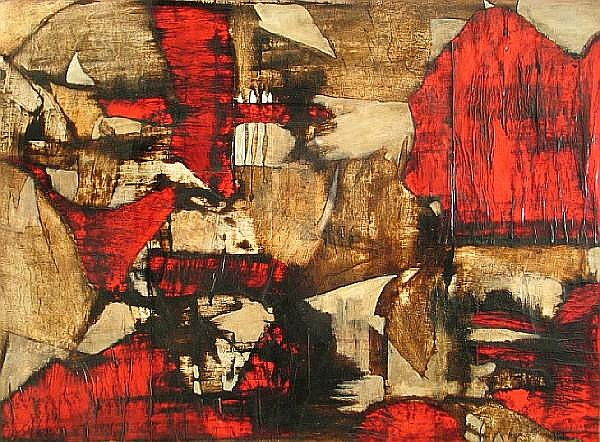 Alberto Sartoris (Swiss, born 1901) Citta infernale, 1962 27 1/2 x 38in