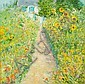 Duane Alt (American, born 1935) Garden path in summer 48 x 48in, Duane Alt, Click for value