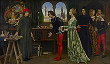 Boticcelli's studio: The first visit of Simonetta presented by Giulio and Lorenzo de Medici 29 1/2 x 49 3/4in (75 x 126.5cm)