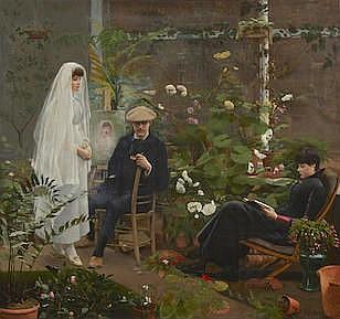 William B. Rhodes (French, circa 1860) The portrait 52 3/4 x 58in (134 x 147.5cm)