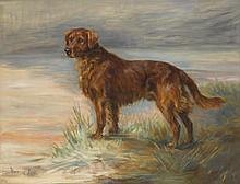 FLORENCE JAY (BRITISH, 20TH CENTURY) Retriever in