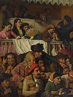 John Bagnold Burgess, RA (British, 1830-1897) Bravo, Toro! 44 1/8 x 34in (112 x 86.5cm)