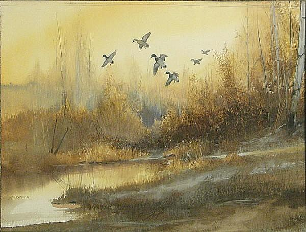 Tom Sander (American, born 1938) Wildlife sight 12 x 16in