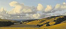 DAVID LIGARE (born 1945) Landscape with Stratus Clouds, 1998 14 x 32 in. (35.5 x 81.4 cm)