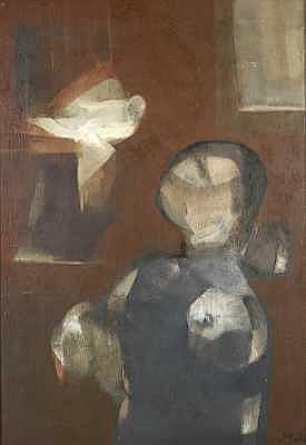 Ramón Puig Benlloch (Spanish, born 1940) Cuidando Alpízaro, 1971 45 1/4 x 30 3/4in (115 x 78cm)