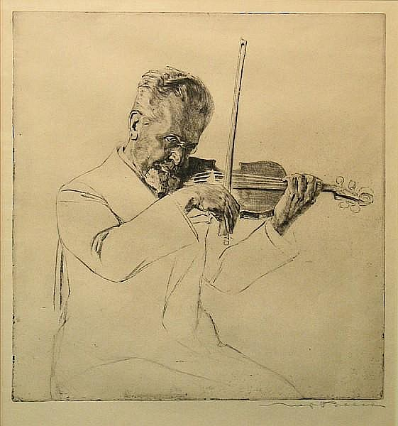 Max Pollak (Austrian, 1886-1950); Prof. Arnold Rosé;