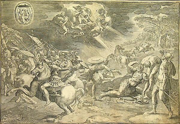 Cornelis de Cort (Dutch, 1533-1578); Battle Scene;