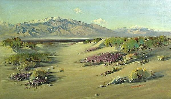 Frederick Richard Chisnall (1887-1965) San Jacinto, Palm Springs 24 x 40in