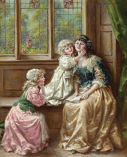 Eva Hollyer (British, active 1891-1898) A mother's delight 20 x 15in