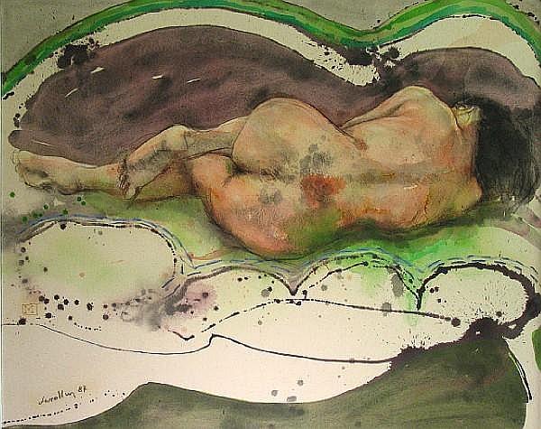 Julio Lavallen (Argentinian, born 1957) Mujer dormida, 1987 47 x 59in
