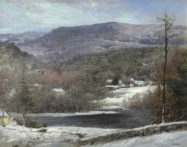 Robert Maione (American, 1932-1987) December, Vermont 16 x 20in