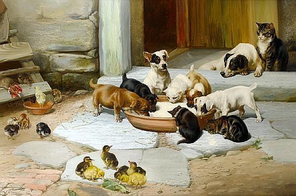 William Henry Hamilton Trood (British, 1860-1899) Déjeuner 32 1/8 x 48 1/8 in. (81.5 x 122 cm.)