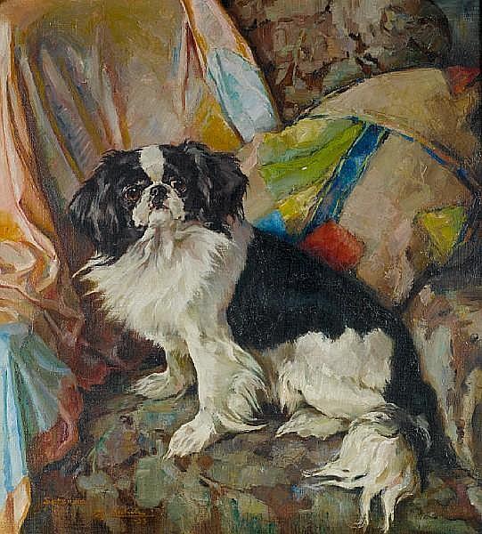 Erwin Aichele (German, 1887-1974) Satsuma 25 3/4 x 23 3/4 in. (65.5 x 60.5 cm.)