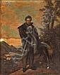 Attributed to Joseph Patrick Haverty (Irish, 1794-1864) A portrait of a gentleman, thought to be Daniel O'Connell, with his hound 24 x 19in, Joseph Patrick Haverty, Click for value