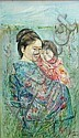 Edna Hibel (American, born 1917) Mother and child, 1974 30 x 18in, Edna Hibel, Click for value