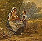 Hugh Newell (American, 1830-1915) A rest from the fields 13 5/8 x 13 7/8in (34.6 x 35.2cm), Hugh Newell, Click for value