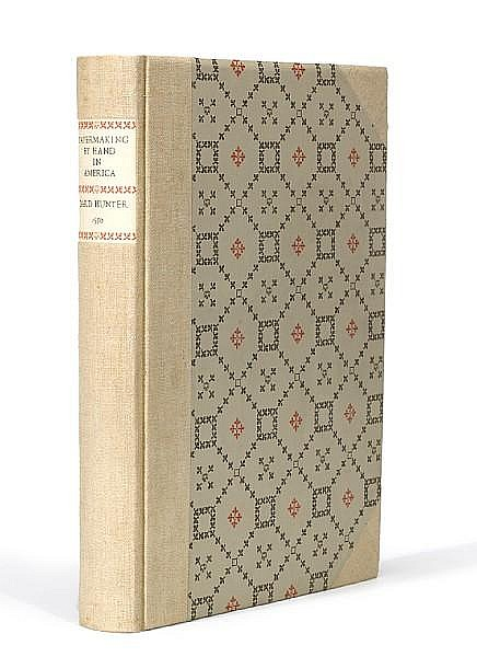 HUNTER, DARD. 1883-1966. Papermaking by Hand in America. Chillicothe, OH: Mountain House Press, 1950.
