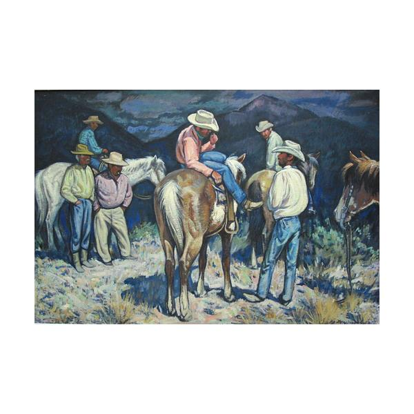 Lon Megargee Cowboys Oil