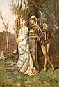 Alfred-Francois Gues (French, born 1837) The courting couple 44 x 30 1/2in, Alfred Guès, Click for value