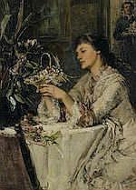 William St. John Harper (American, 1851-1910) - Easter morning 24 x 17 7/8in (61 x 45.5cm)