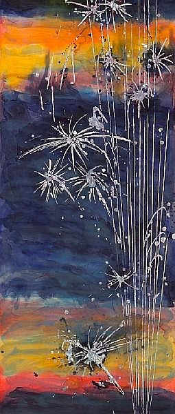 Nancy Lorenz (American, born 1962) Fireworks, 2006 93 1/2 x 40 x 2in