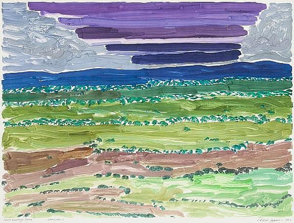 Laverne Erickson Krause (American, 1924-1987); Eagles Nest Gold; Santo Dominago Storm; Majave Sky; (3)