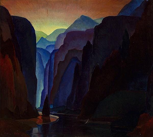 Walter Alexander Bailey (American, 1894-1989) Deep Blue Canyon, 1932 36 x 40in