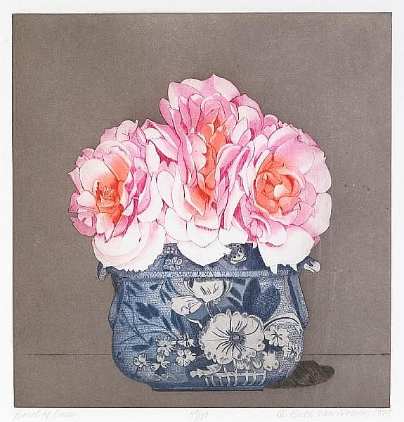 Beth van Hoesen (American, born 1926); Bowl of Roses;