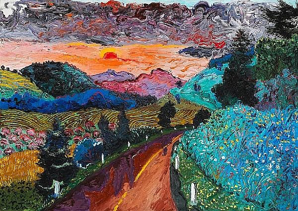 Peter Dean (American, 1939-1993) Elizaville Road, 1986 38 x 52in