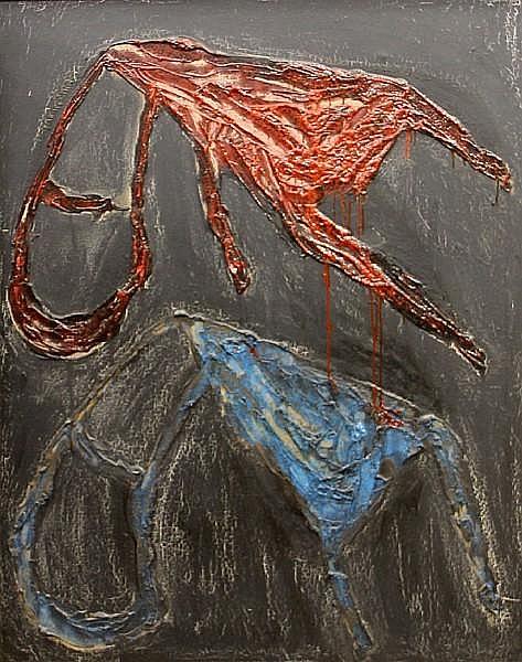 Víctor Mira (Spanish, 1949-2003) Dues cadires de filósof, 1988 57 1/2 x 44 3/4in