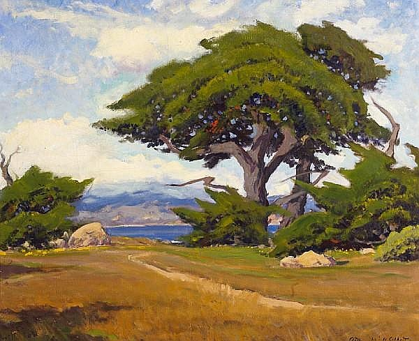 Arthur Hill Gilbert (American, 1894-1970) Point Lobos 24 1/2 x 29 3/4in