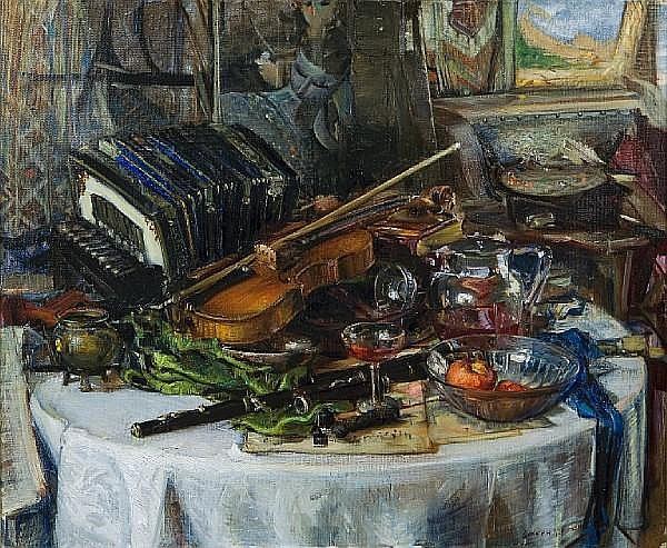 Joseph Kleitsch (1882-1931) Highlights, circa 1928 38 1/4 x 46 1/4in