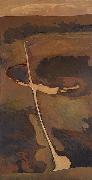 Russell Chatham (American, born 1941) No place for disdain, 1961 51 x 34in