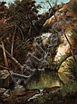 Henry Chapman Ford (American, 1828-1894) Trickling waterfall, 1885 24 x 18 1/4in, Henry Chapman Ford, Click for value