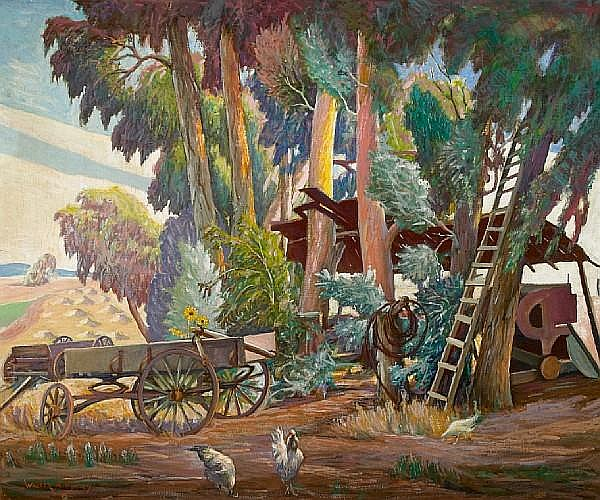Walter Alexander Bailey (American, 1894-1989) The edge of the ranch 30 x 36in