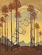 Engelbert Lap (Austrian, 1886-1970); Untitled (Autumn Twilight);, Engelbert Lap, Click for value