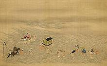 Ko Sukoku (1730-1804 Fording Oi River
