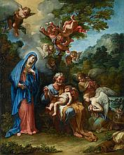 Giovanni Odazzi (Rome, 1663-1731) The rest on the flight into Egypt oil on