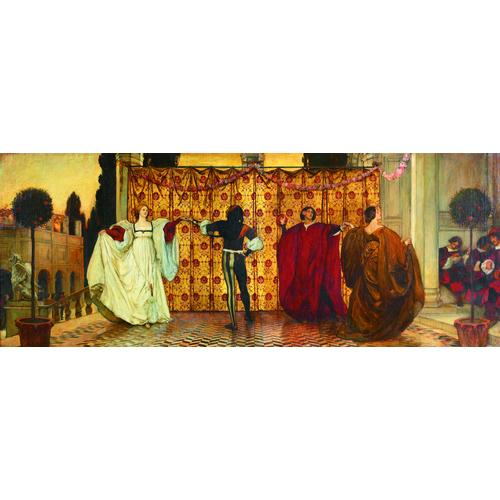 Edwin Austin Abbey American, 1852-1911 The Dance of the Troubadors Signed l/r: E.A. Abbey 1897 and Inscribed l/l: copyright 1897 by E.A. Abbey Oil