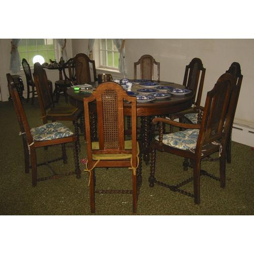 Dining Room Furniture Michigan: A Jacobean Style Oak Dining Suite Luce Furniture Co., Grand